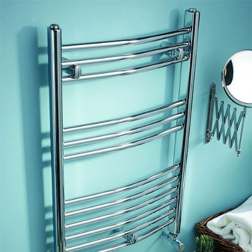 Kartell K-Rail Curved Towel Rail - 600mm x 1200mm - Chrome